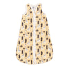 Organic Baby Sleep Bag - Giraffes Pale Yellow