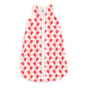 Organic Baby Sleep Bag - Hearts Red & Pink