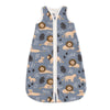 Organic Baby Sleep Bag - Lions Slate Blue