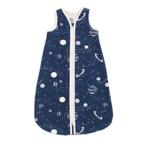 Organic Baby Sleep Bag - Planets Night Sky