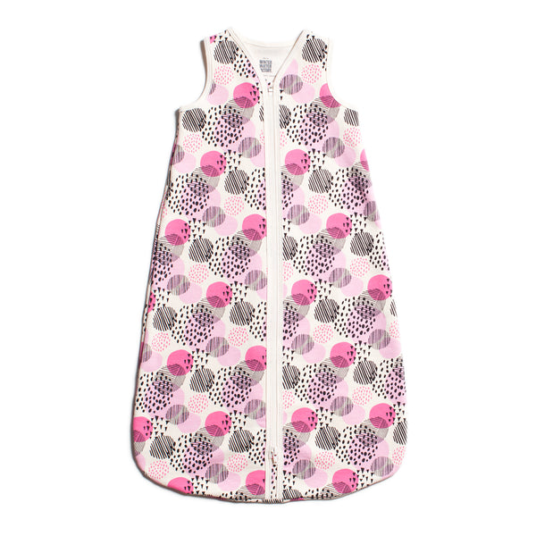Organic Baby Sleep Bag - Modern Dots Pink