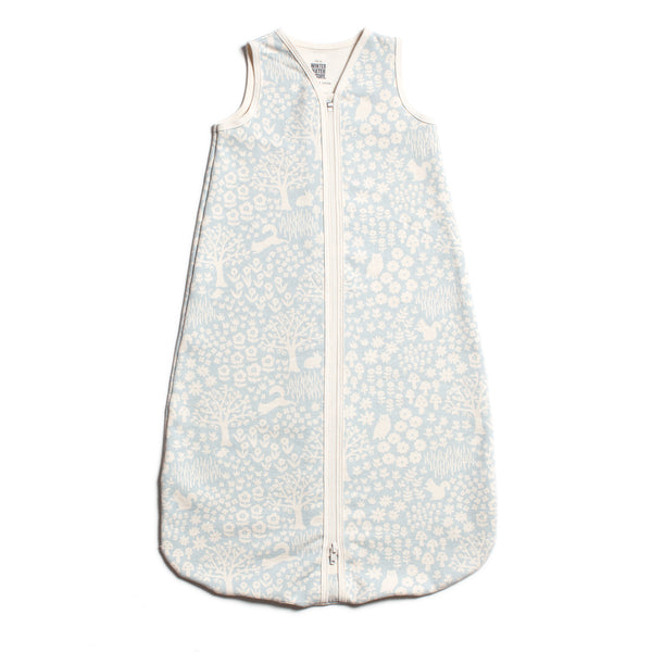 Organic Baby Sleep Bag - Woodland Pale Blue