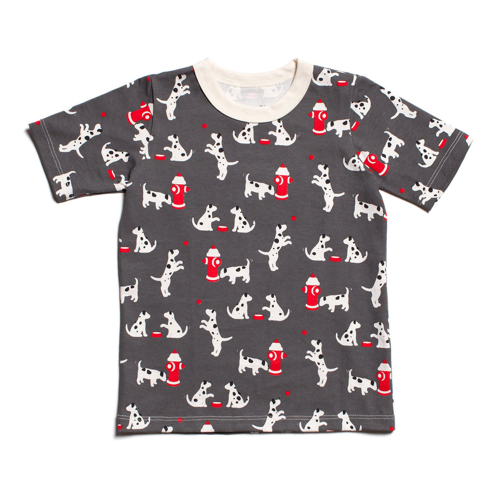 Short Sleeve Tee - Dalmatians Charcoal