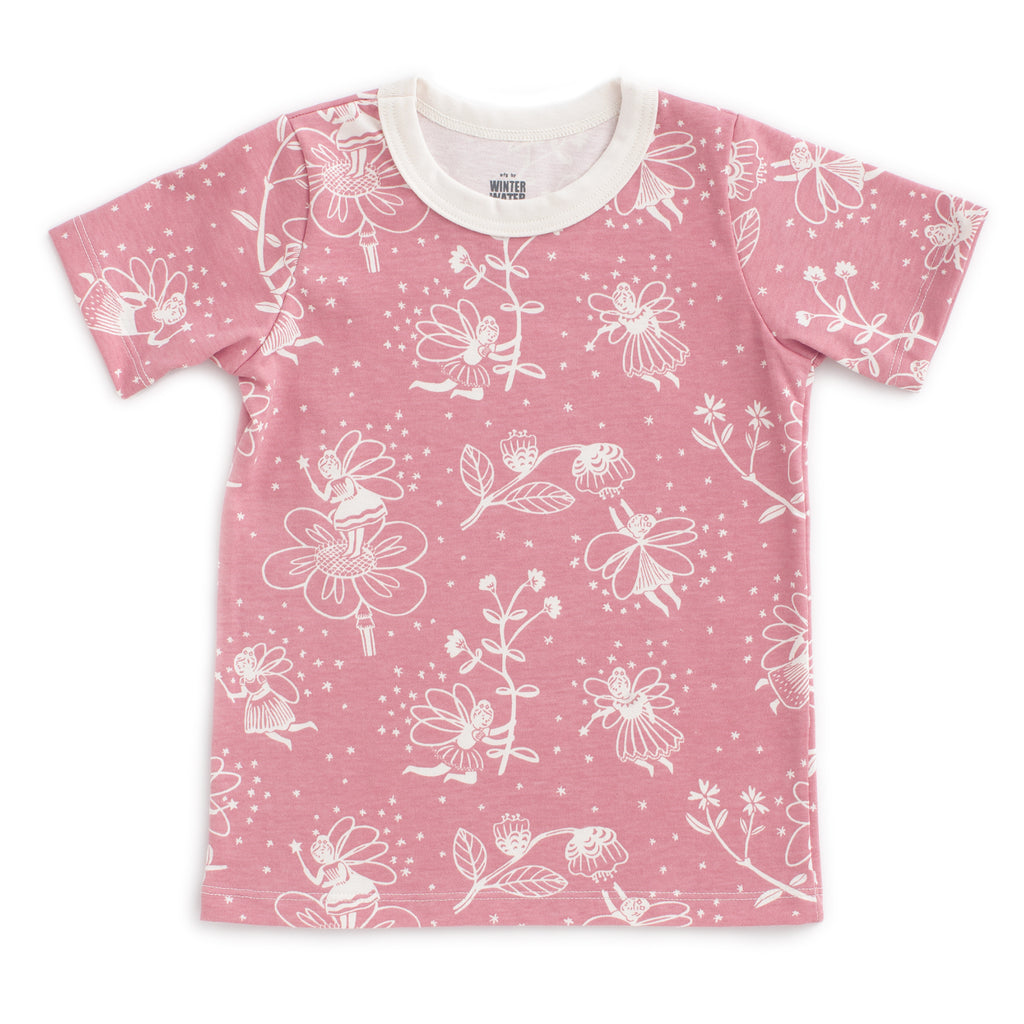 Short Sleeve Tee - Fairies Dusty Pink