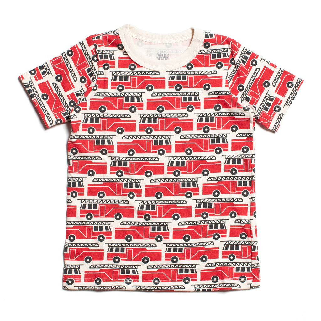 Short Sleeve Tee - Firetrucks Red