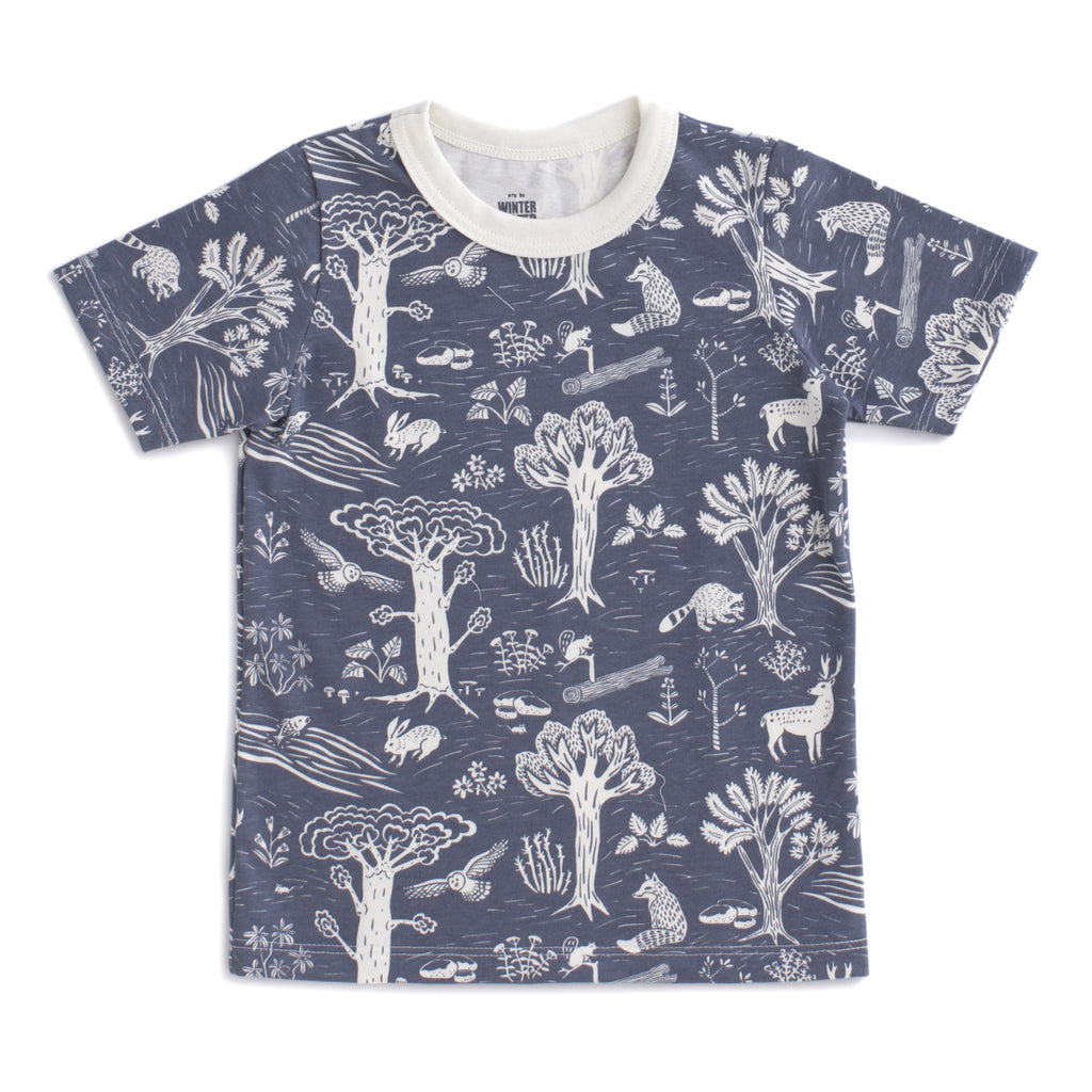 Short Sleeve Tee - In the Forest Slate Blue