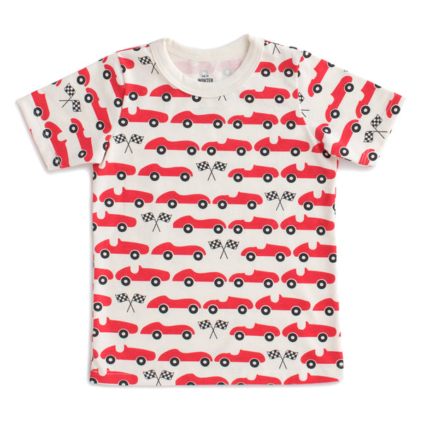 Short Sleeve Tee - Race Cars Red