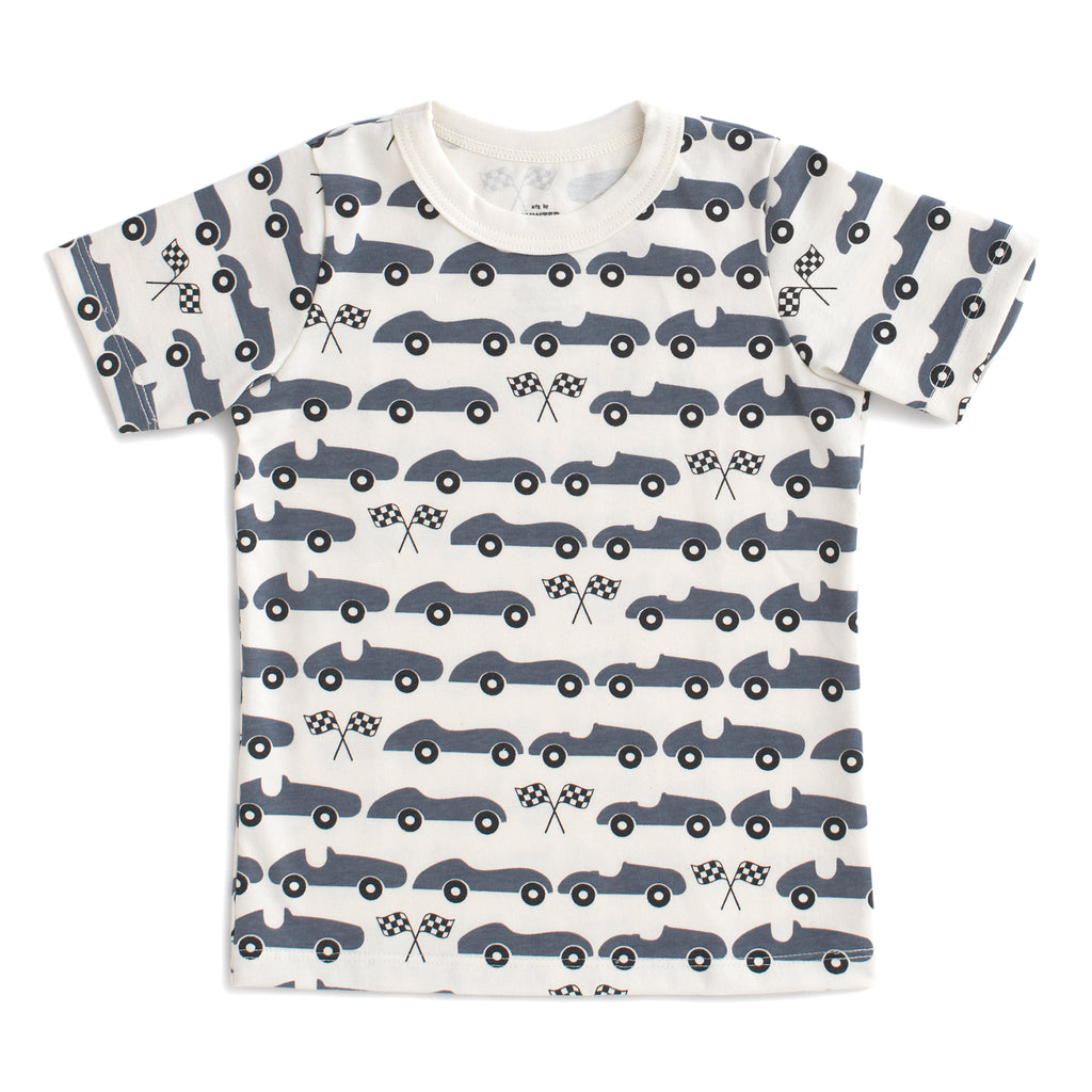 Short Sleeve Tee - Race Cars Slate Blue