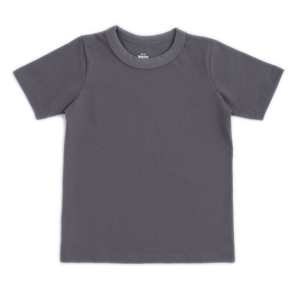 Short Sleeve Tee - Solid Charcoal