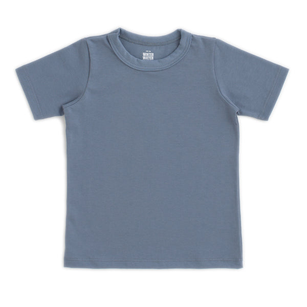 Short Sleeve Tee - Solid Slate Blue