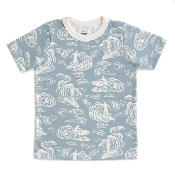 Short Sleeve Tee - Surfers Pale Blue
