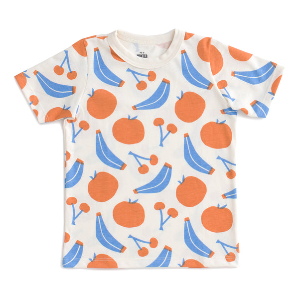 Short-Sleeve Tee - Yummy Fruit Blue & Orange