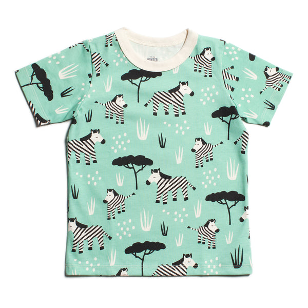 Short Sleeve Tee - Zebras Mint