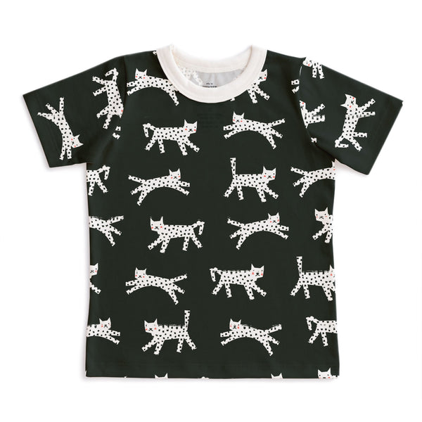 Short-Sleeve Tee - Cats Black