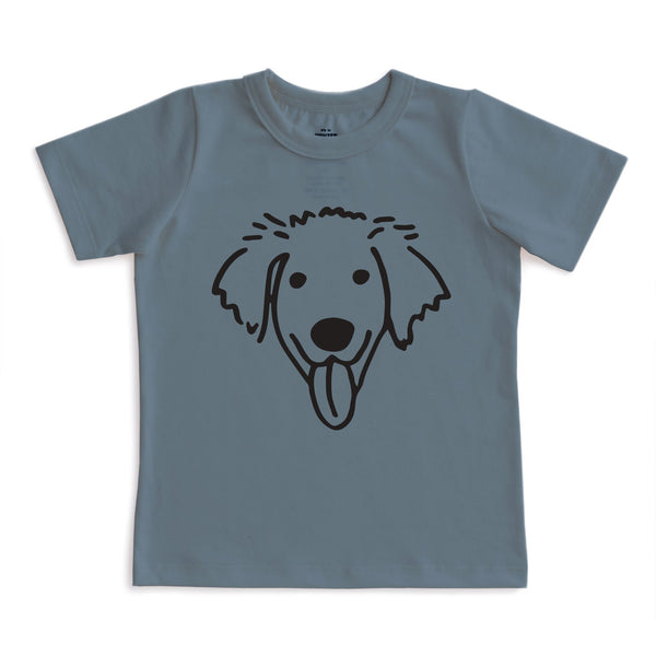 Short-Sleeve Tee - Dog Slate Blue