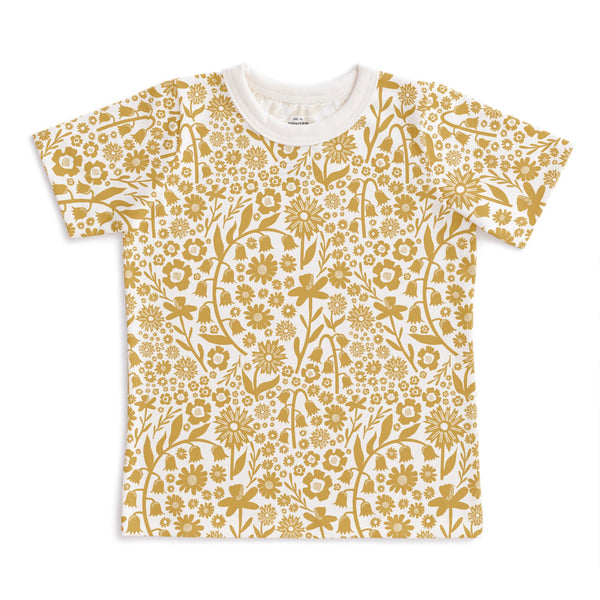 Short-Sleeve Tee - Dutch Floral Yellow
