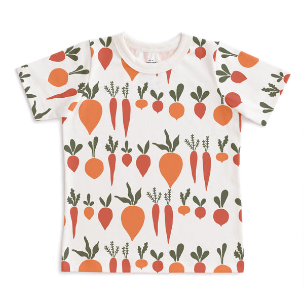 Short-Sleeve Tee - Root Vegetables Natural