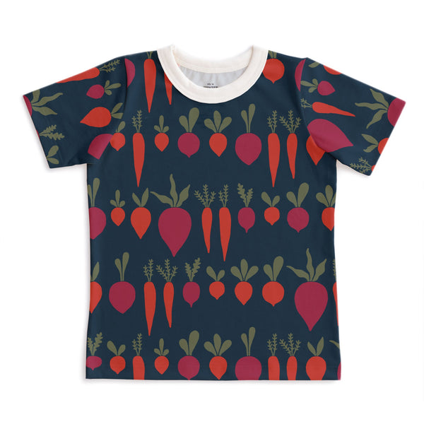 Short-Sleeve Tee - Root Vegetables Night Sky