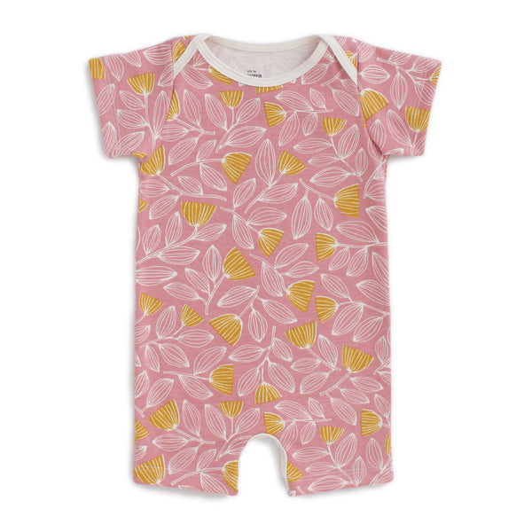 Summer Romper - Holland Floral Dusty Pink & Yellow