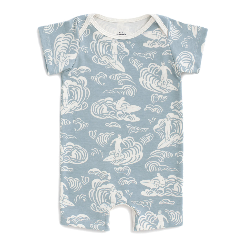 Summer Romper - Surfers Pale Blue