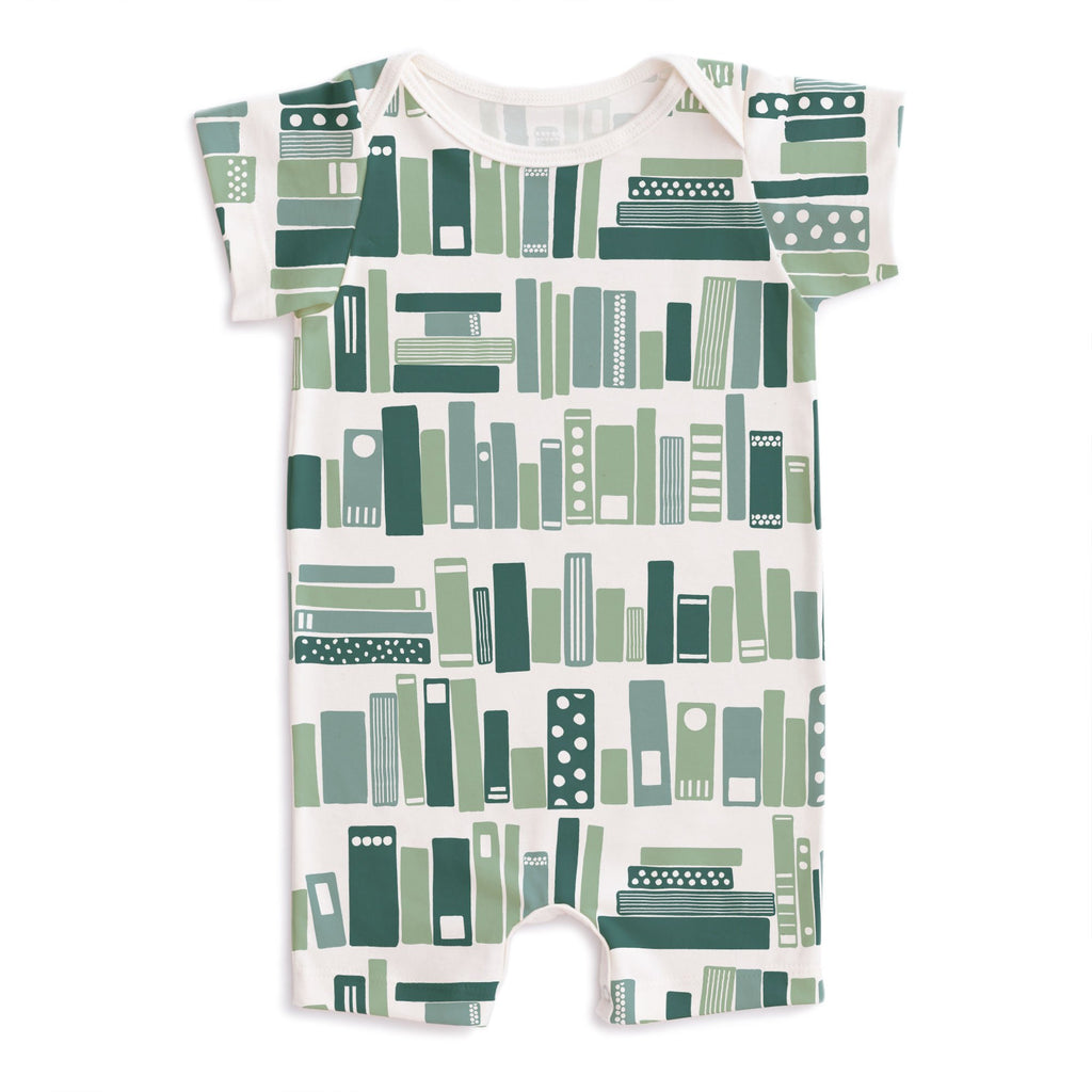 Summer Romper - Bookshelf Teal