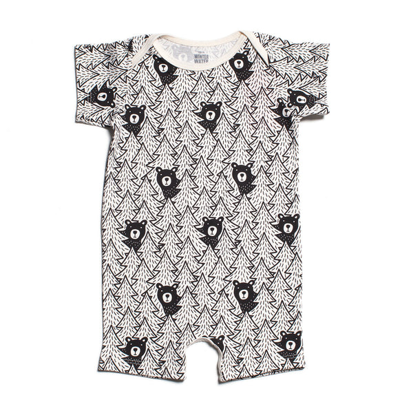 Summer Romper - Bears Black