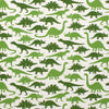 Short Sleeve Snapsuit - Dinosaurs Green