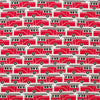 Lightweight Jersey Blanket - Firetrucks Red