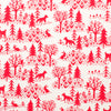 Kerchief Bib - Winter Scenic Red