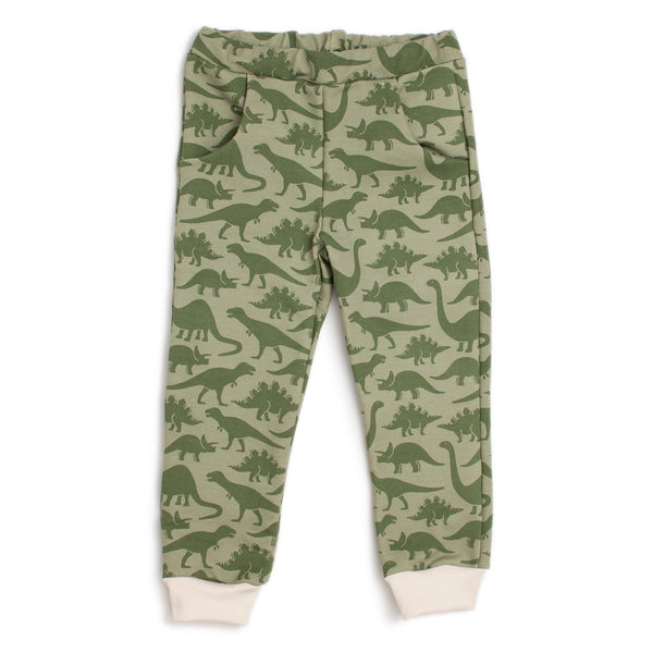 Sweatpants - Dinosaurs Sage