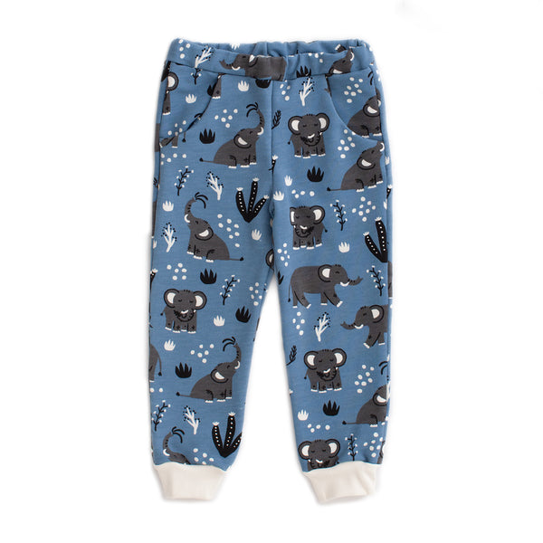Sweatpants -Elephants Blue