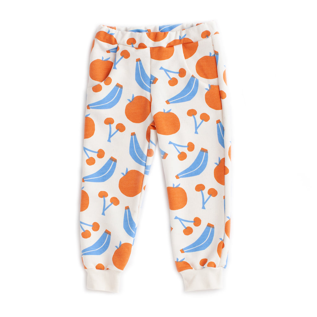 Sweatpants - Yummy Fruit Blue & Orange