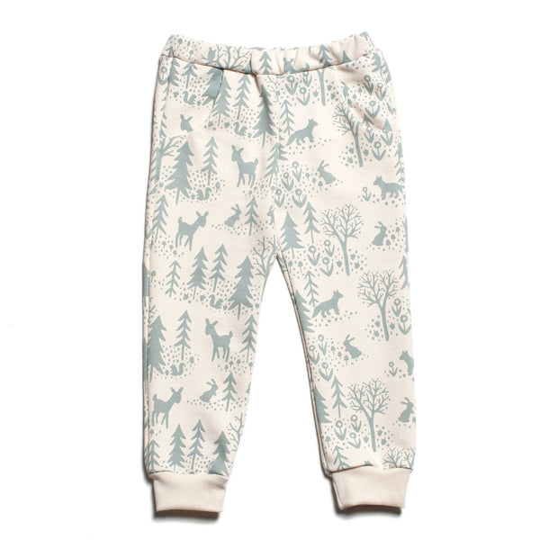 Sweatpants - Winter Scenic Pale Blue