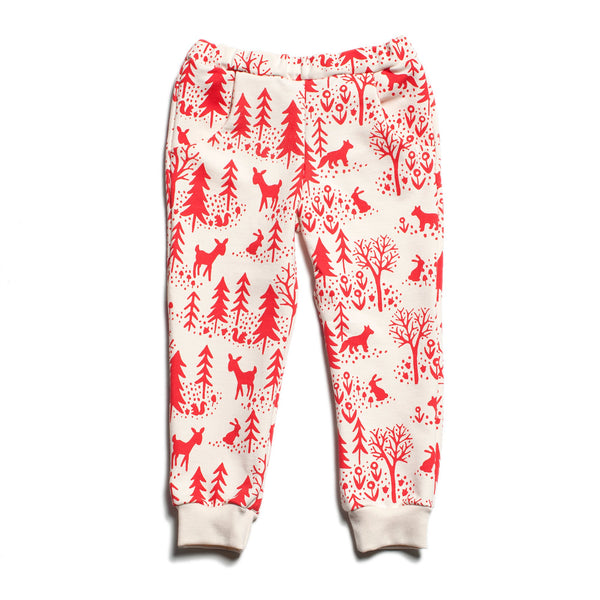 Sweatpants - Winter Scenic Red