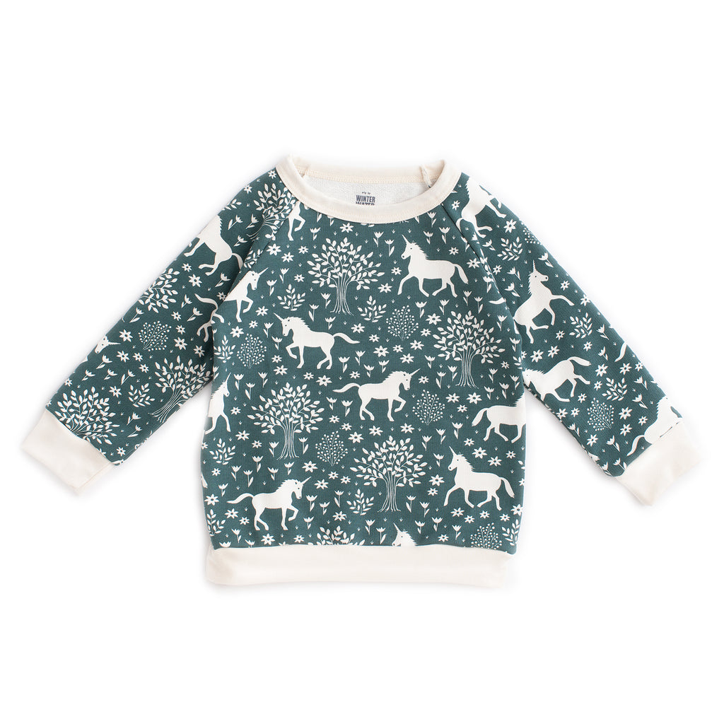 Sweatshirt - Magical Forest Teal