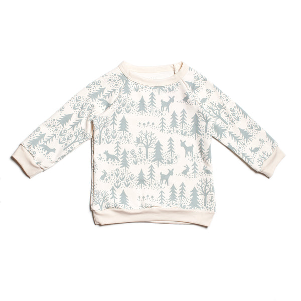 Sweatshirt - Winter Scenic Pale Blue