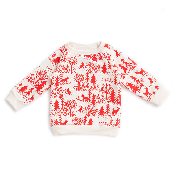 Sweatshirt - Winter Scenic Red