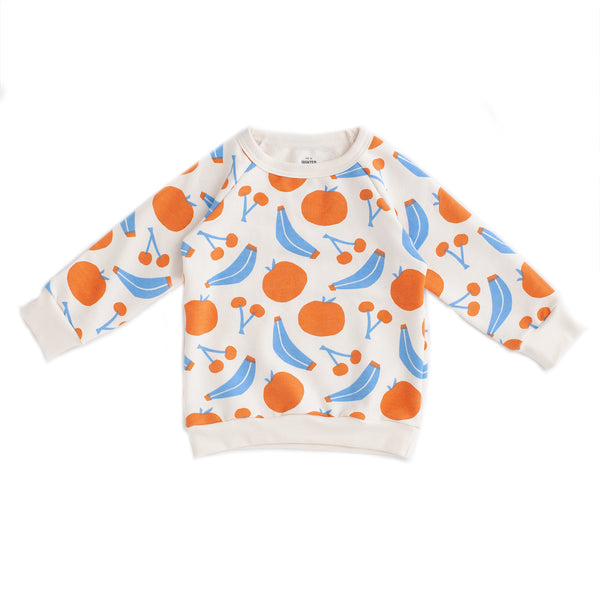 Sweatshirt - Yummy Fruit Blue & Orange