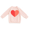 Sweatshirt - Heart Pink