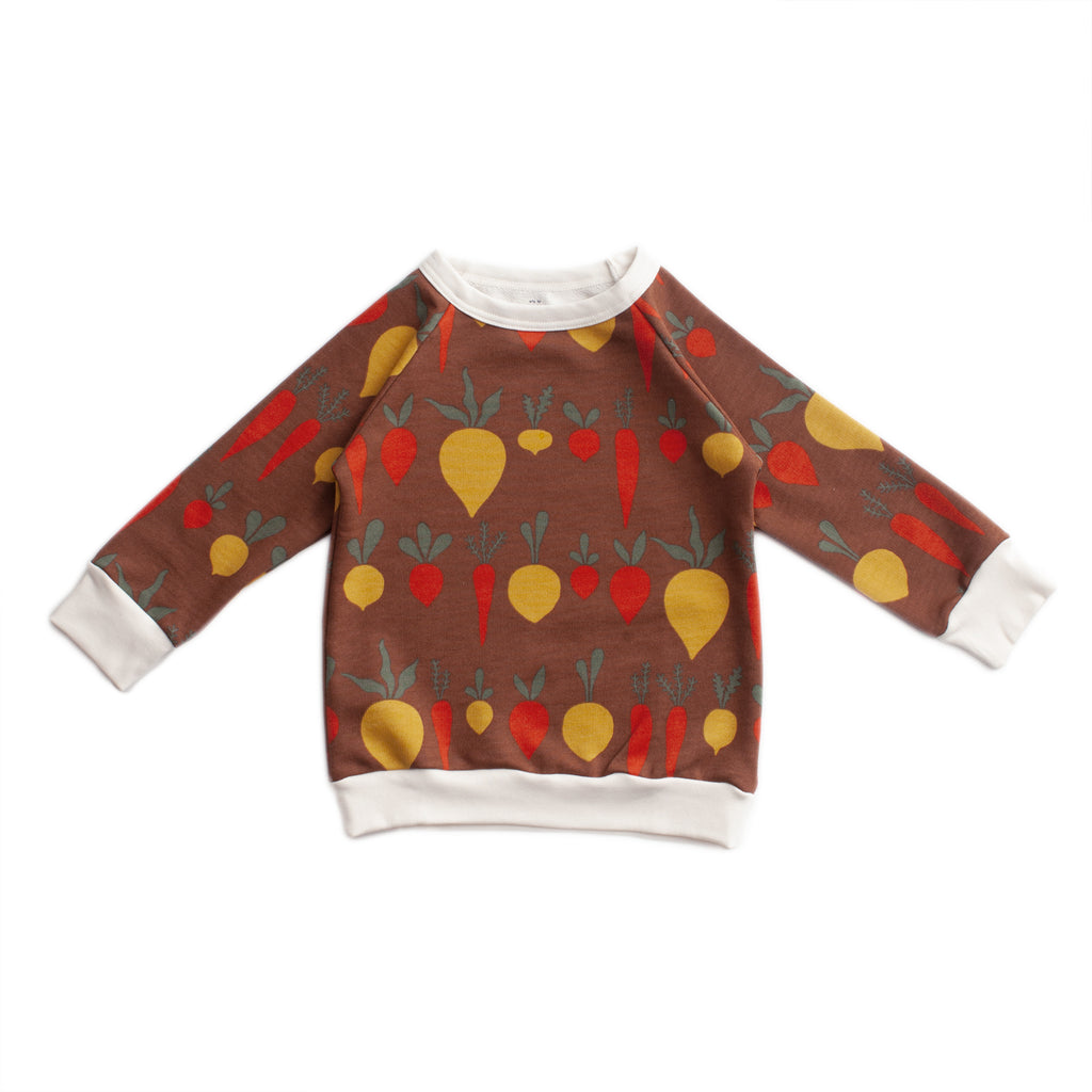 Sweatshirt - Root Vegetables Chestnut