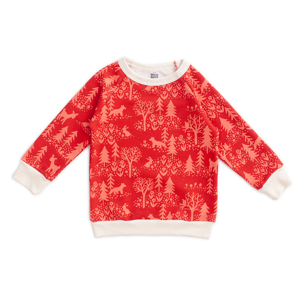 Sweatshirt - Winter Scenic Cranberry