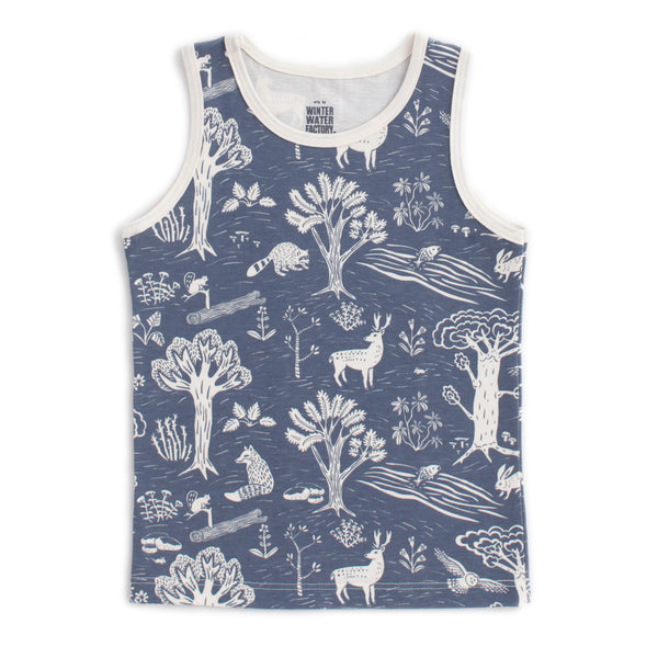 Tank Top - In the Forest Slate Blue
