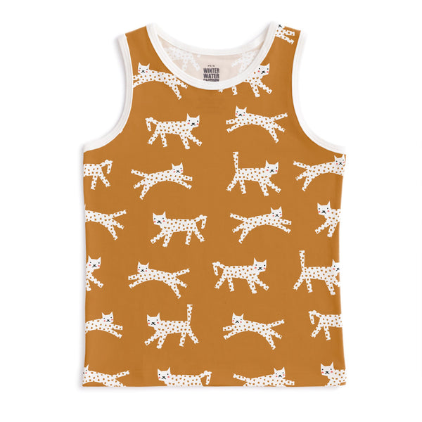 Tank Top - Cats Gold