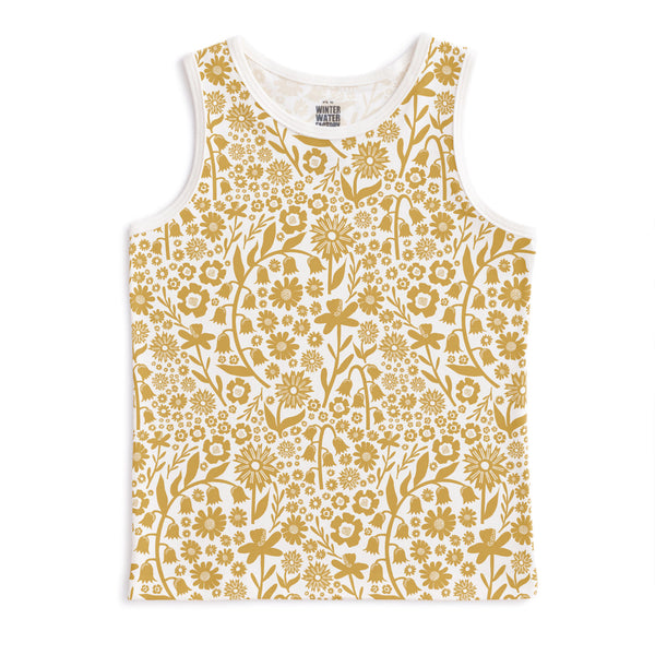 Tank Top - Dutch Floral Yellow