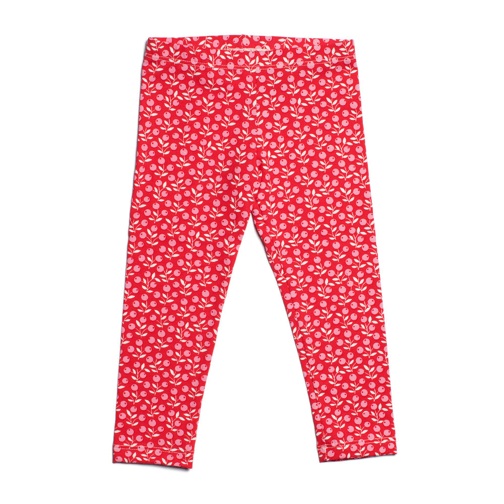 Baby Leggings - Berries Red & Pink