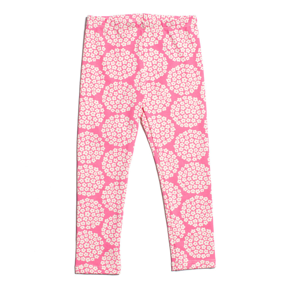 Baby Leggings - Flower Dots Pink