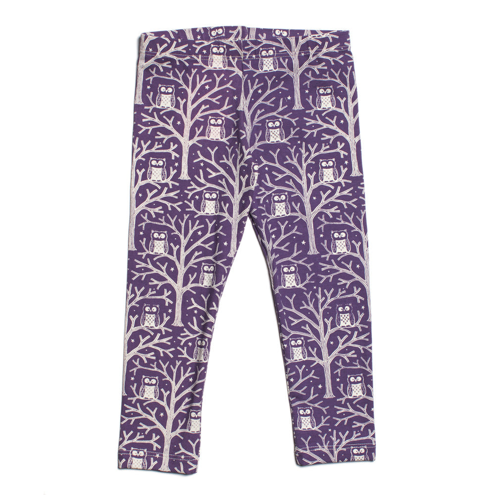 Baby Leggings - Night Owls Purple