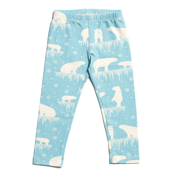 Baby Leggings - Polar Bears Arctic Blue