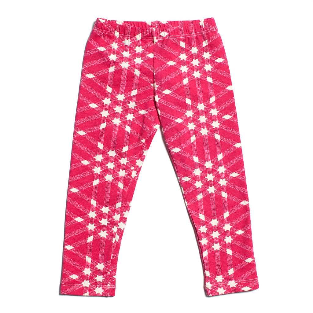Leggings - Triangle Plaid Magenta