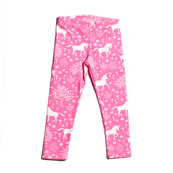Baby Leggings - Magical Forest Pink